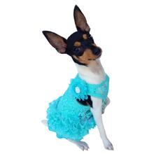 Garden Party Tutu Dog Dress by The Dog Squad - Seafoam