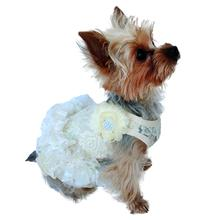 Garden Party Tutu Dog Dress by The Dog Squad - Ivory