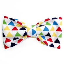 Modern Triangles Dog Bow Tie from Daisy and Lucy