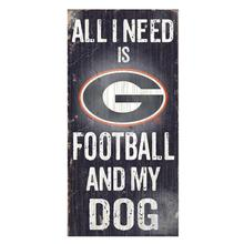 Georgia Bulldogs Football and My Dog Wood Sign