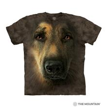 German Shepherd Face - Human T-Shirt by The Mountain