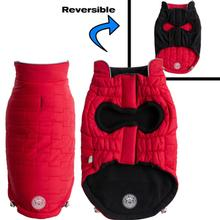 GF Pet Reversible Chalet Dog Jacket - Red