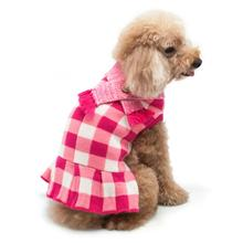 Gingham Dog Sweater Dress by Dogo - Pink