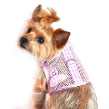 Gingham Octopus Mesh Dog Harness by Doggie Design - Pink