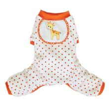 Giraffe Dog Pajamas - Orange