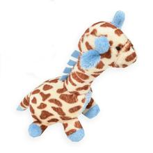 Giraffe Safari Baby Pipsqueak Dog Toy By Oscar Newman - Blue
