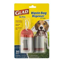 Glad for Pets Extra Large Unscented Dog Waste Bags and Dispenser - 30 Count