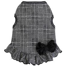 Glen Plaid Dog Dress - Black and White