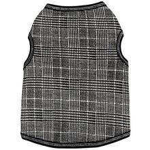 Glen Plaid Dog Tank - Black and White