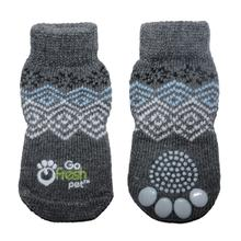 Go Fresh Pet Anti-Slip Dog Socks - Blue Nordic