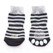 GF Pet Anti-Slip Dog Socks - Grey Stripes