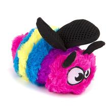 goDog Bugs Bee Tough Plush Dog Toy - Rainbow
