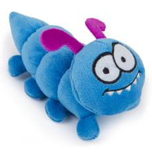 goDog Bugs Caterpillar Tough Plush Dog Toy - Blue