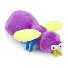 goDog Bugs Fly Tough Plush Dog Toy - Purple