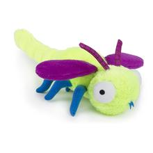 goDog Bugs Dragonfly Tough Plush Dog Toy - Lime