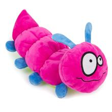 goDog Bugs Caterpillar Tough Plush Dog Toy - Pink