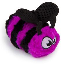 goDog Bugs Bee Tough Plush Dog Toy - Purple