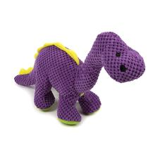 goDog Checkers Dino with Chew Guard Dog Toy - Purple Bruto