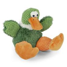 goDog Checkers Sitting Dog Toy - Duck