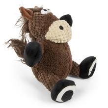 goDog Checkers Sitting Dog Toy - Horse