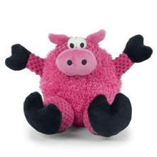 goDog Checkers Sitting Dog Toy - Pig