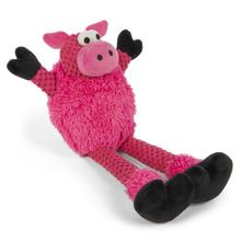 goDog Checkers Skinny Pig Dog Toy - Pink