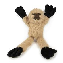goDog Crazy Tugs Dog Toy - Fuzzy Sloth
