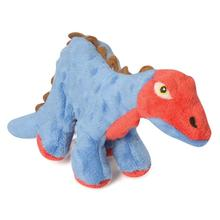 goDog Dino Stegosaurus  Dog Toy with Chew Guard - Blue