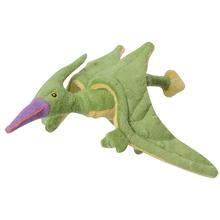 goDog Dinos Chew Guard Dog Toy - Green Pterodactyl