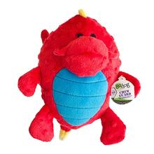 GoDog Dragon Grunter Dog Toy - Red