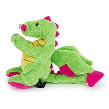goDog Dragons Tough Dog Toy With Chew Guard - Green and Pink