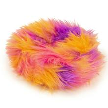 GoDog FurBallz Rings Dog Toy - Warm Rainbow
