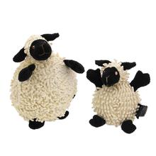 goDog®oDog Fuzzy Wuzzy Sheep Dog Toy - Black
