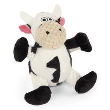 goDog Just for Me Checkers Sitting Dog Toy - Cow