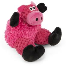goDog Just for Me Checkers Sitting Dog Toy - Pig