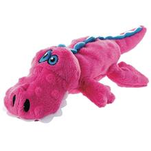 goDog Just For Me Gator Dog Toy - Pink