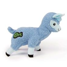 goDog Llama Under-Stuffed Plush Fleece Dog Toy - Blue