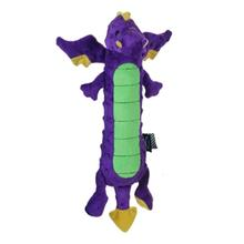 GoDog Skinny Dragon Dog Toy - Purple