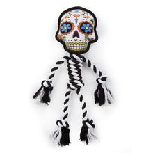 goDog Sugar Skulls Rope Dog Toy - Large White