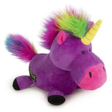 goDog Unicorn Plush Dog Toy - Purple