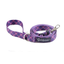 Gold Paw Adjustable Length Dog Leash - Mulberry Plaid