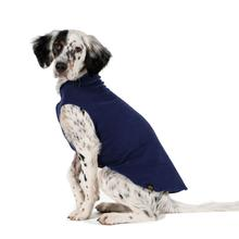 Gold Paw Fleece Dog Jacket - Navy Blue