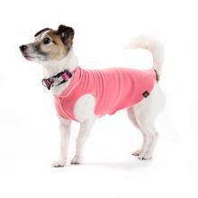 Gold Paw Fleece Dog Jacket - Coral Pink