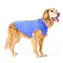 Gold Paw Fleece Dog Jacket - Cornflower Blue