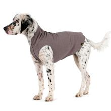 Gold Paw Fleece Dog Jacket - Charcoal Grey