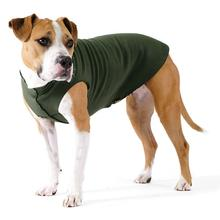Gold Paw Fleece Dog Jacket - Hunter Green