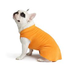 Gold Paw Fleece Dog Jacket - Pumpkin Orange