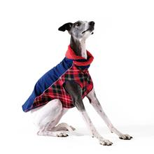 Gold Paw Portland Pullover Dog Jacket - Navy and Red Plaid