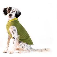 Gold Paw Reversible Double Fleece Dog Jacket - Avocado/Moss