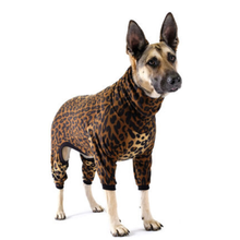 Gold Paw Stretch Fleece Dog Onesie - Leopard